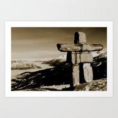 Whistler inukshuk Art Print