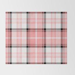 Pink Tartan Throw Blanket