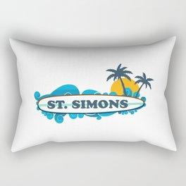 St. Simons Island - Georgia. Rectangular Pillow