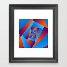 Orange and Blue Spiral Framed Art Print