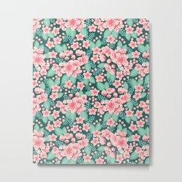 Cherry Blossom spring summer boho floral flower gardening nature botanical nature flowers florals Metal Print
