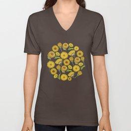 Calendula Florals Unisex V-Neck