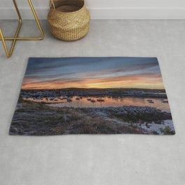Sunset overlooking Rockport harbor Rug