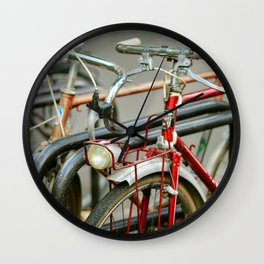 Bicycles of Paris Wall Clock