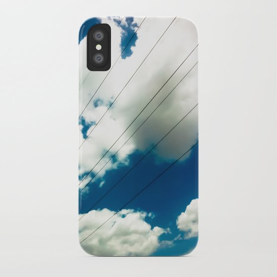 Lines and The Blue Sky iPhone Case