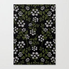 Hemlock Flower Pattern Canvas Print