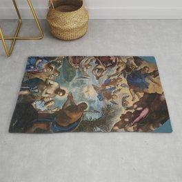 """Tintoretto (Jacopo Robusti) """"Baptism of Christ (Murano)"""" Rug"""