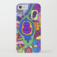 psychadelic iPhone & iPod Cases featuring Abstract 18 by Linda Tomei