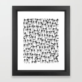 Cats #society6 Decor #buyart Framed Art Print