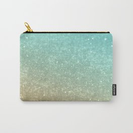 Sparkling Gold Aqua Teal Glitter Glam #1 #shiny #decor #society6 Carry-All Pouch