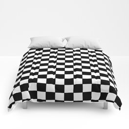 Checkers - Black and White Comforters