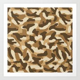Brown Camo Camouflage Art Print