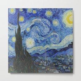 Vincent Van Gogh The Starry Night Metal Print