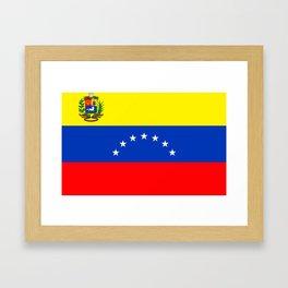Venezuela flag Framed Art Print