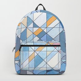Triangle Pattern no.17 Light Blues Backpack