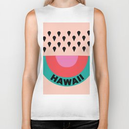 HAWAII RAINBOW WATERMELON Biker Tank