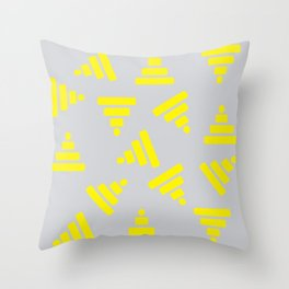 Pyramids Yellow Throw Pillow
