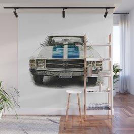 CLASSIC CAR LOVE Wall Mural