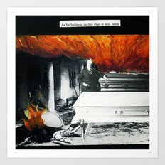 Total Post Mortum Immolation (funeral metal 3) Art Print