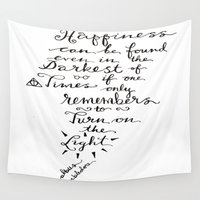 dumbledore Wall Tapestries featuring Happiness - Dumbledore  by Hayley Lang