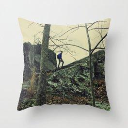 The Climber Throw Pillow
