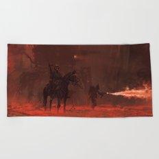 1920 - apocalypse day Beach Towel