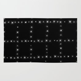 Black and White - Stars in Squares Rug