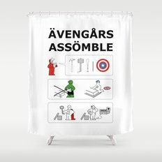 Superheroes Assembling - Colour Shower Curtain