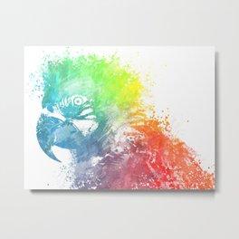 Parrot Ara Metal Print