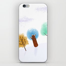 Christmas Trees Snowy Landscape iPhone Skin