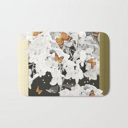 Hydrangea And Butterflies in Frame #decor #society6 Bath Mat