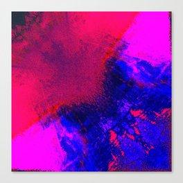 02-14-36 (Red Blue Glitch) Canvas Print