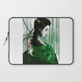 Cyberpunk Geisha Cyborg Matrix Binary Code  Laptop Sleeve