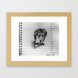 not barry gibb Framed Art Print
