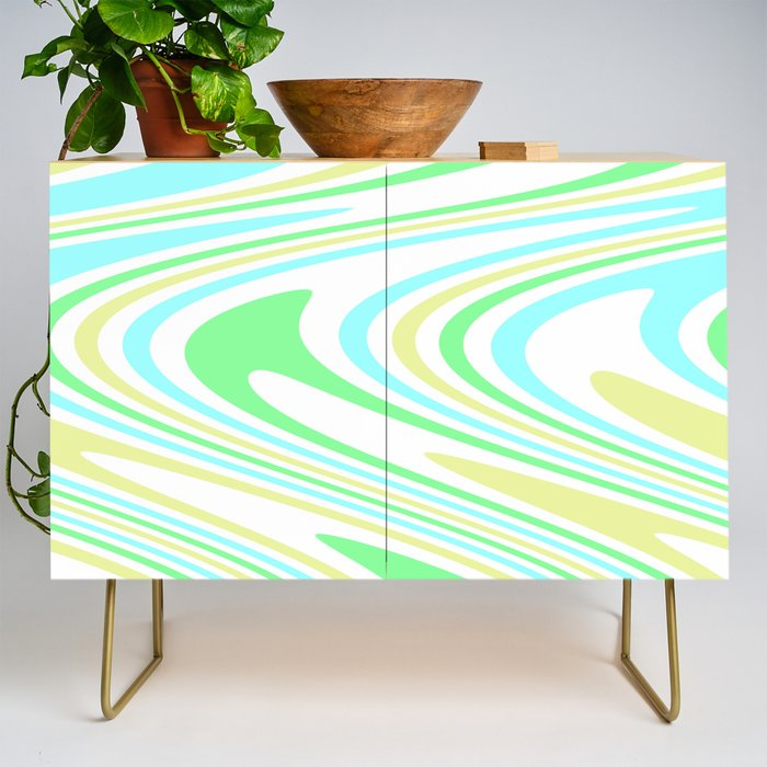 Blue, Yellow, and Green Waves Credenza