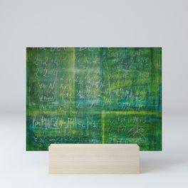 Old schoolboard -XL canvas in concep Mini Art Print