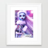 monster high Framed Art Prints featuring Monster High Abbey Doll MHSQ by KittRen