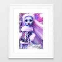 monster high Framed Art Prints featuring Monster High Abbey Doll MHSQ by Renée