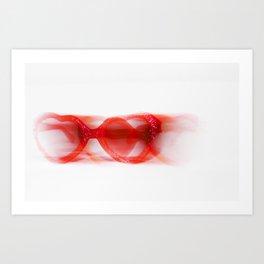 Heart-Shaped Glasses Art Print