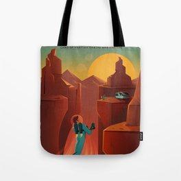 SpaceX Mars tourism poster / Valles Marineris NF Tote Bag