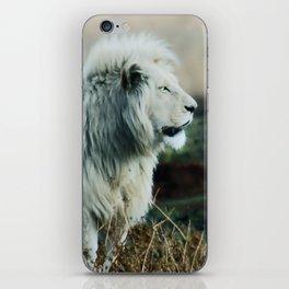 White lion iPhone Skin