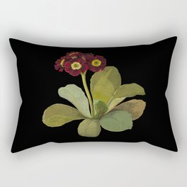 Primula Auricula by Mary Delany Paper Collage Floral Flower Botanical Paper Mosaic Vintage Scientifi Rectangular Pillow