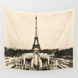 Eiffel Tower - Vintage Post card Wall Tapestry