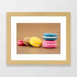 Colorful Macaron Framed Art Print