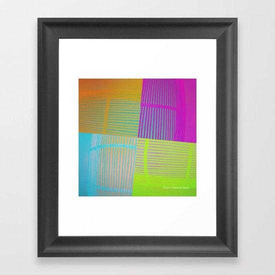 Di-simetrías Color Framed Art Print