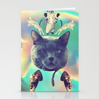 saga Stationery Cards featuring galactic Cats Saga 3 by Carolina Nino