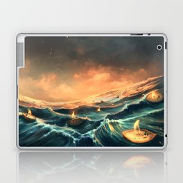 Refugees in a nutshell Laptop & iPad Skin
