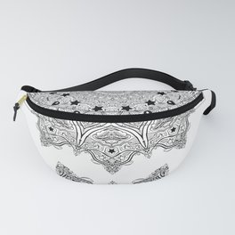 Stars and Stripes - Patriotic Mandala - Black and White - 'Merica! Fanny Pack