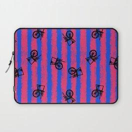 pink no blue bounding spinning wheel stripes 2 Laptop Sleeve