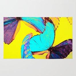 Shiny and colorful butterflies #decor #buyart #society6 Rug